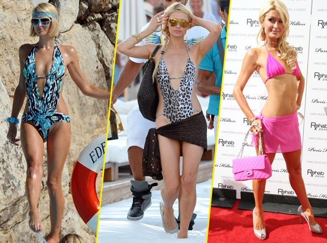 Les looks de Paris Hilton en maillot de bain !