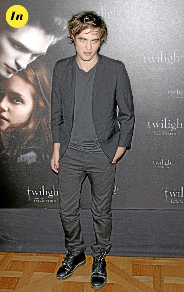 Le total look black de Robert Pattinson en 2008