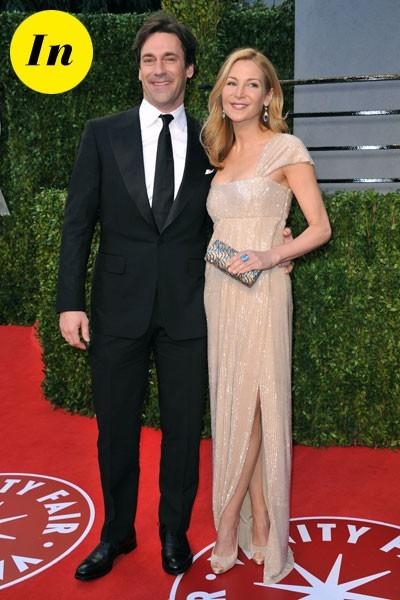Look de stars aux Oscars 2011 : John Hamm en couple avec Jennifer Westfeldt