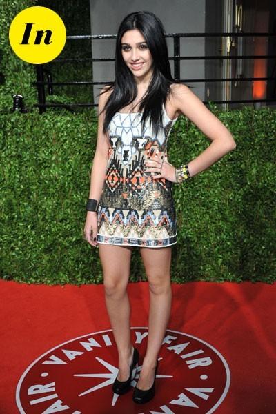 Oscars 2011 : la robe courte imprimée de Lourdes Leon