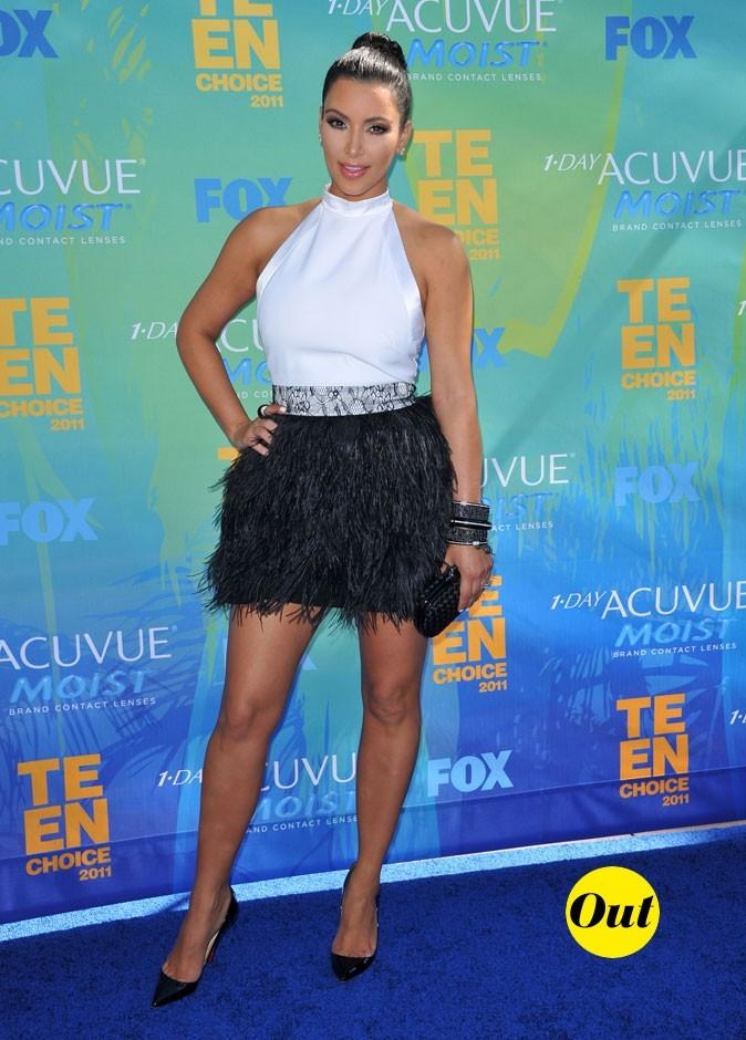 Le look de Kim Kardashian aux Teen Choice Awards 2011 !
