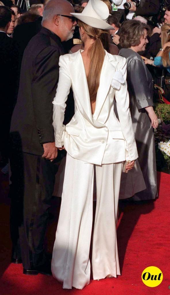 Tendance masculin/féminin : le look de Céline Dion