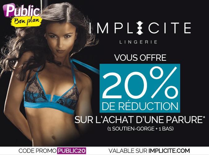 Bon plan : -20% sur l'achat d'une parure de lingerie sur le e-shop d'Implicite !