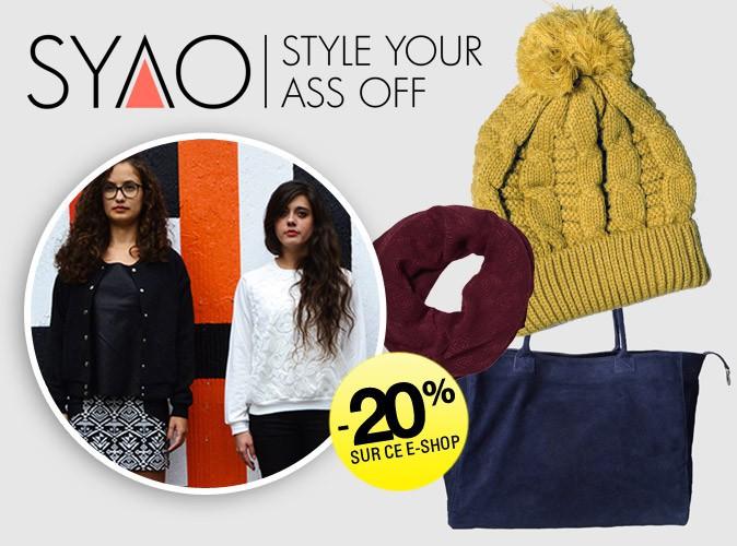 Bon plan Mode : - 20% sur toute la boutique tendance SYAO !