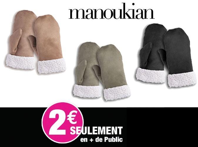 Bon plan mode : des moufles Manoukian avec votre magazine Public !