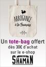 Bon plan : un tote bag offert dès 30e d'achat sur le e-shop de Shaman !