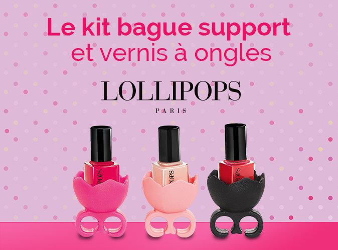 Bon Plan : bague support et vernis à ongles Lollipops à 3,95 € !