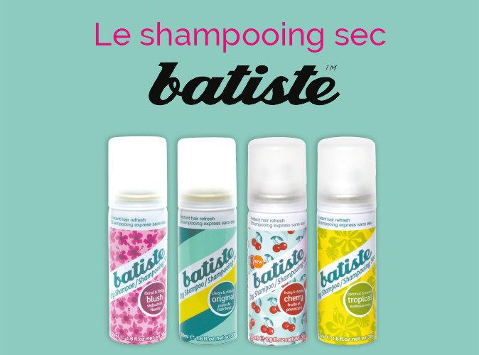 Bon Plan : votre shampooing sec Batiste à 1.95 € seulement !