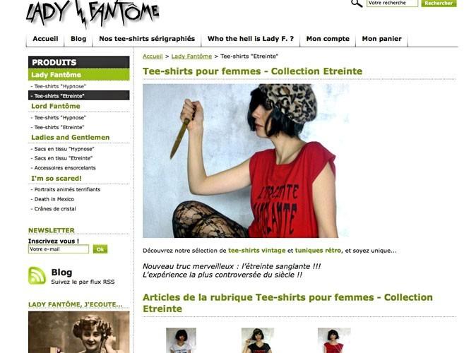 Lady Fantôme : un site de shopping tendance rock et gothique !