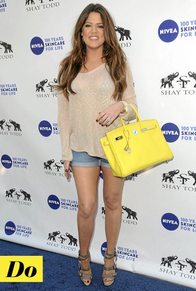Le sac Birkin fluo de Khloé Kardashian