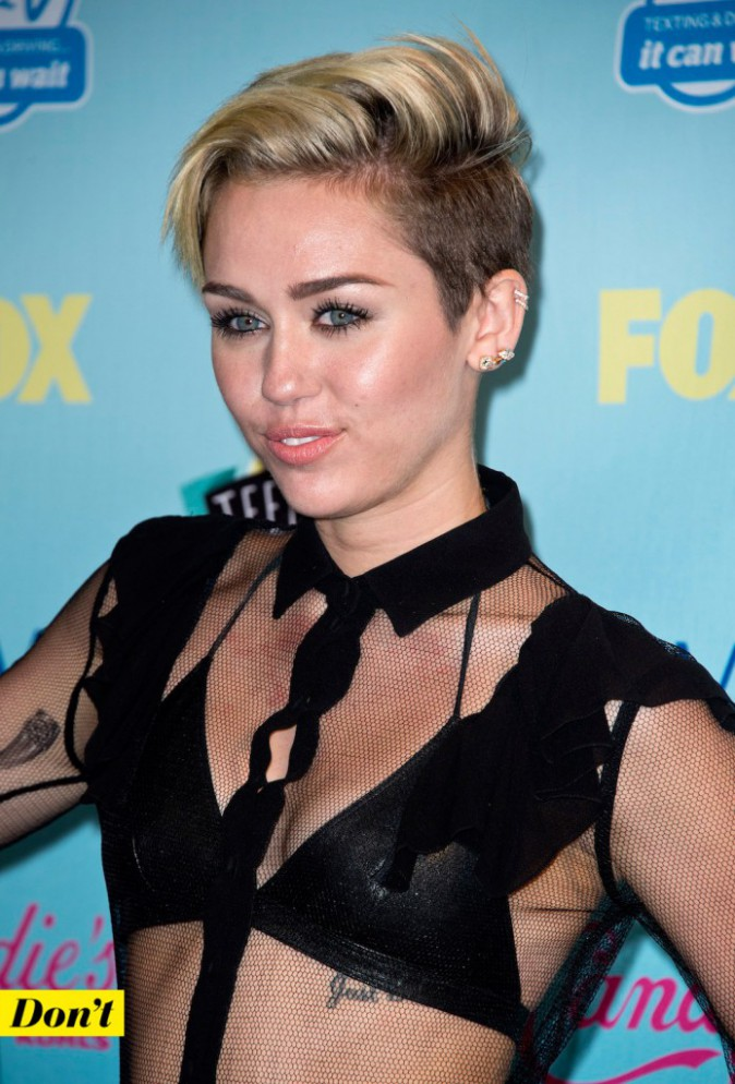 Miley Cyrus et la coupe garçonne.