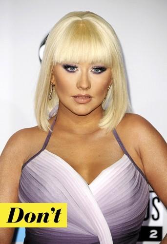Les faux cils de Christina Aguilera : Don't !