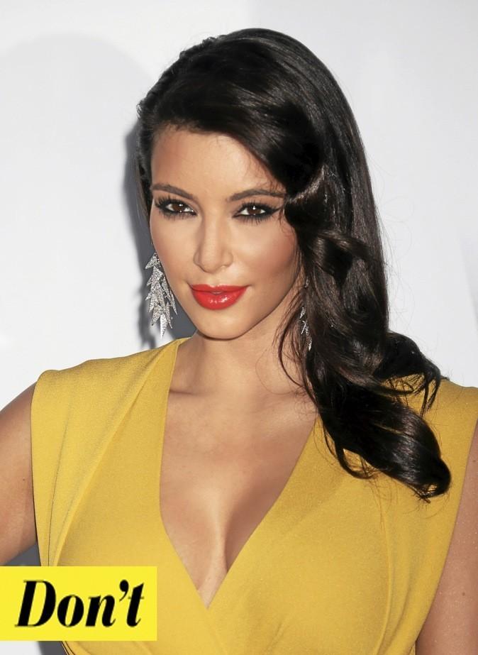 Le maquillage vamp par Kim Kardashian : Don't !