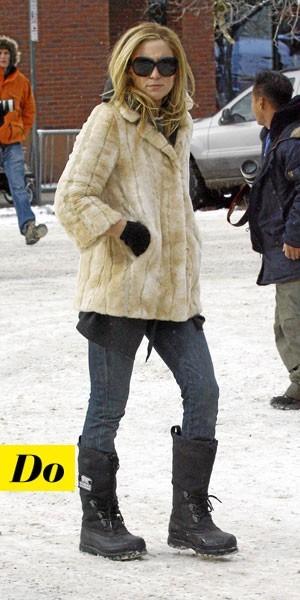 Comment porter les Moon Boots :  le look tendance de Kate Hudson
