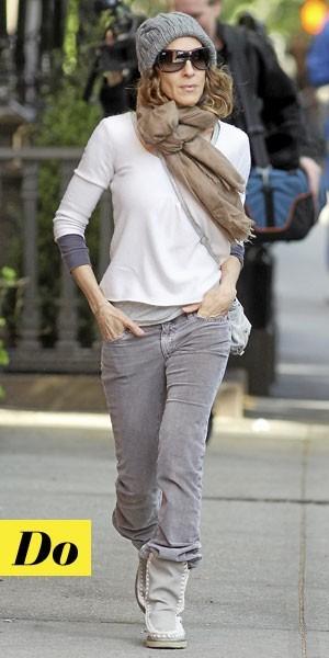 Comment porter les Moon Boots :  le look tendance de Sarah Jessica Parker