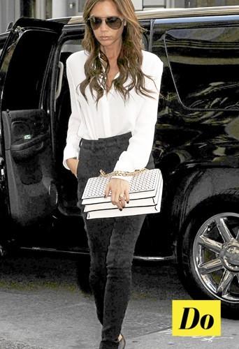 Victoria Beckham en black & white