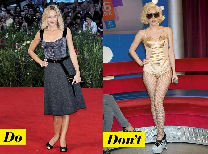 Le corset d'Hélène de Fougerolles et de Lady Gaga