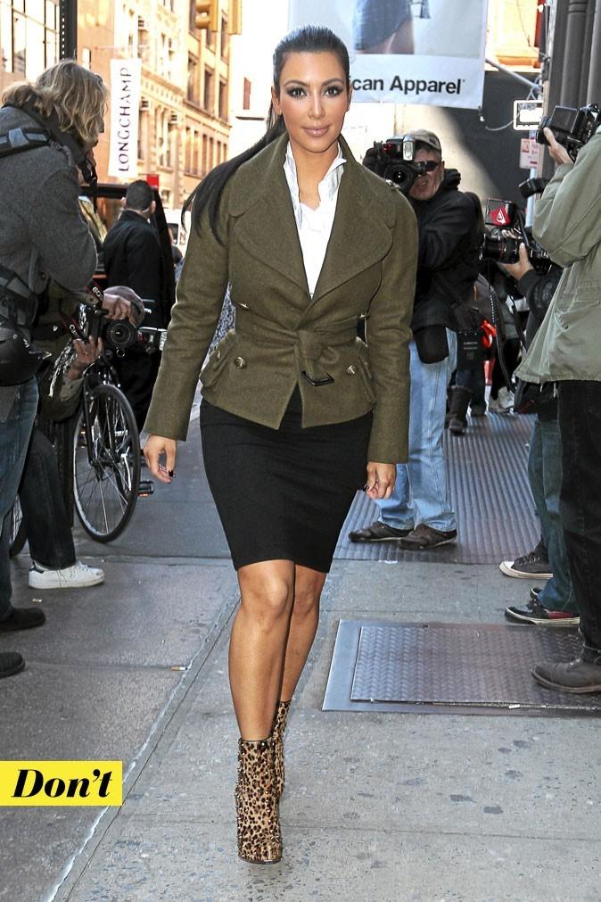 Look de star : les chaussures imprimé léopard de Kim Kardashian