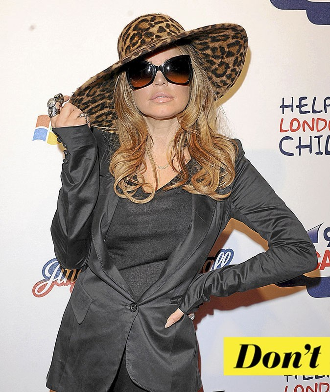 Look de star : la capeline de Fergie