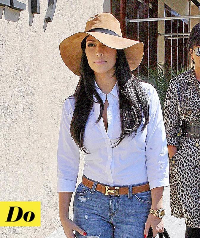 Look de star : la capeline de Kim Kardashian