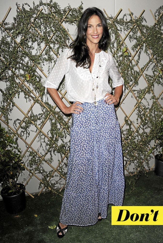 Look de star : la jupe longue imprimée de Linda Hardy