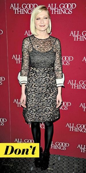 Look de star : la robe en dentelle noire de Kirsten Dunst
