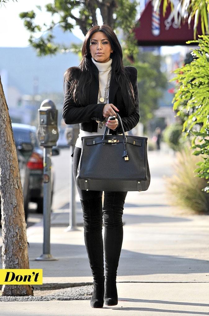 Le col roulé de Kim Kardashian : Don't !
