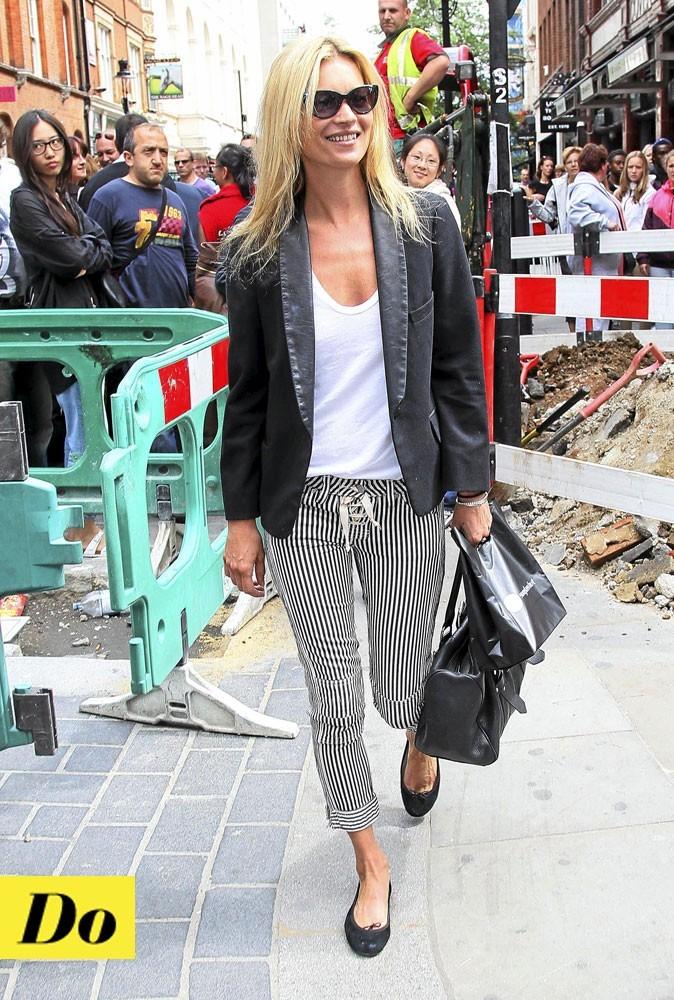 Le pantalon rayé Isabel Marant de Kate Moss