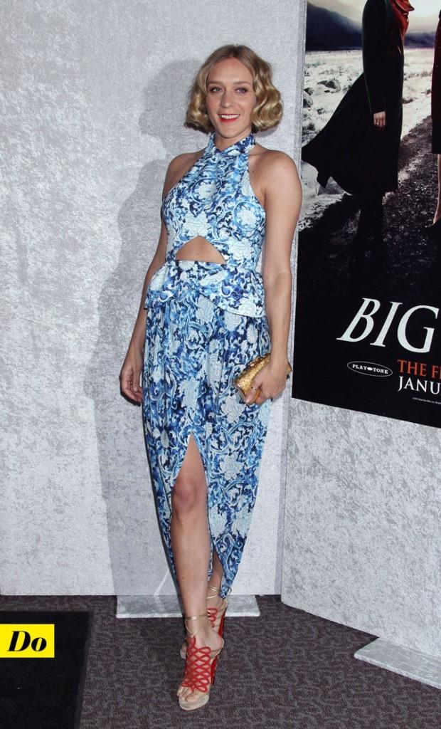 Look de star : la robe longue fendue et découpée de Chloë Sevigny