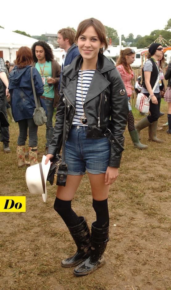 Alexa Chung à Glastonbury