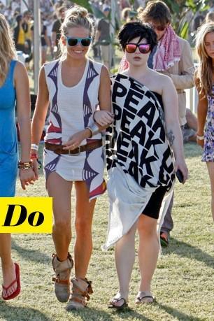 Sienna Miller et Kelly Osbourne à Coachella