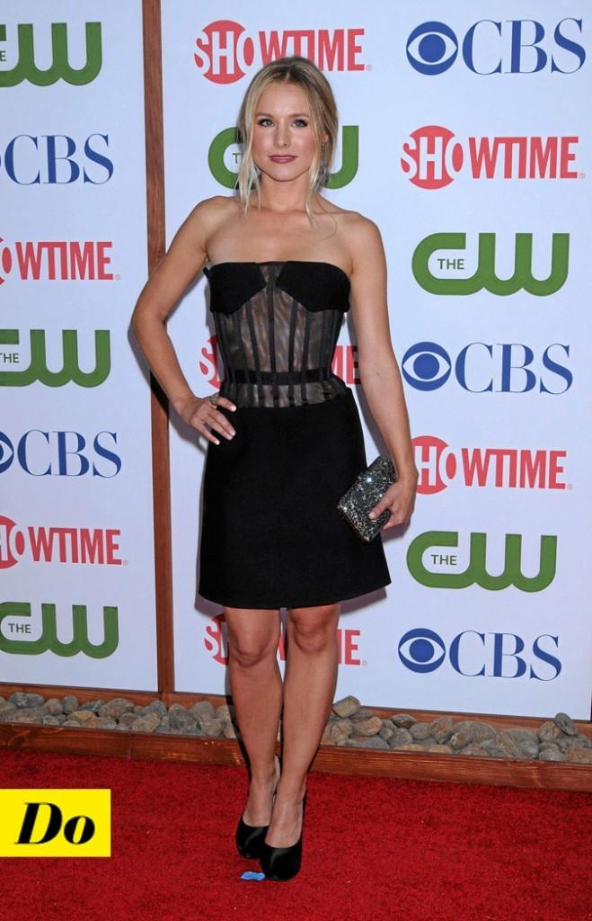 La petite robe noire de Kristen Bell !
