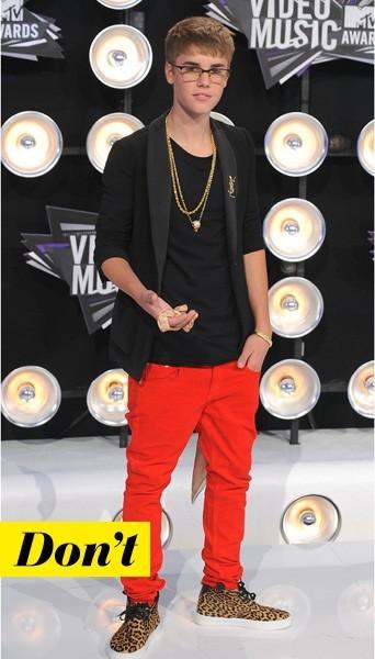 Justin Bieber en YSL