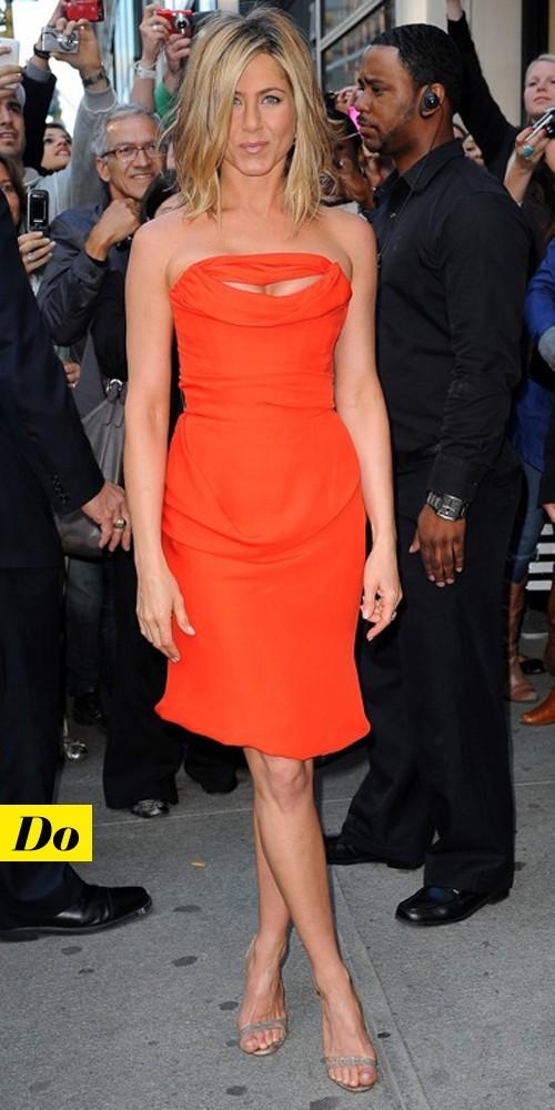 Jennifer Aniston en Vivienne Westwood