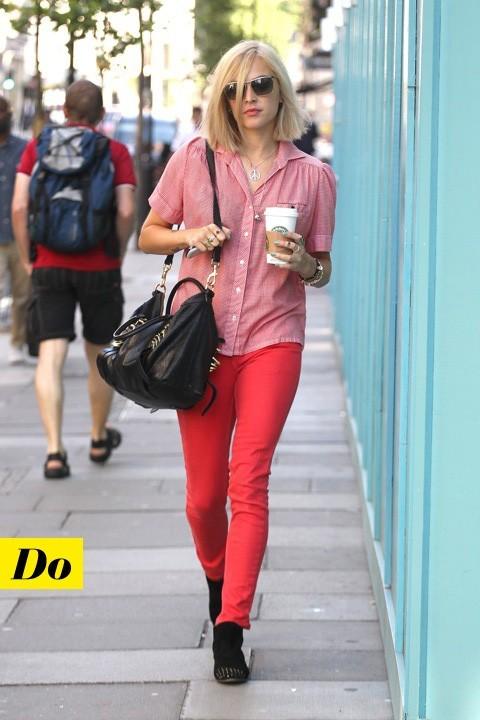 Fearne Cotton et son jean rouge