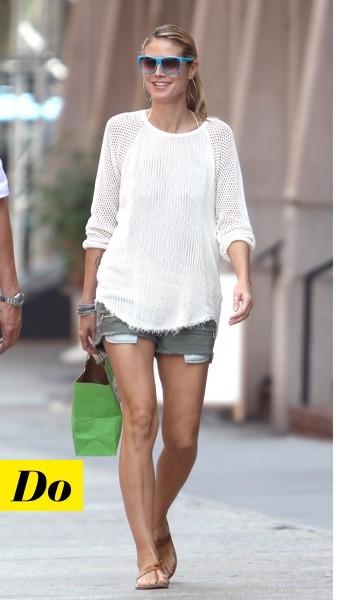 Heidi Klum et son pull en coton