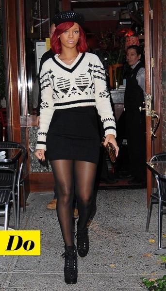 Rihanna et son pull de ski