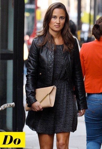 Pippa Middleton et son perfecto en cuir