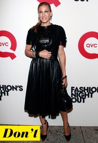 Sarah Jessica Parker et sa longue robe en cuir