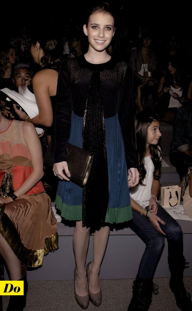 Mercedes-Benz Fashion Week 2011 : Emma Roberts lors du défilé Jill Stuart !