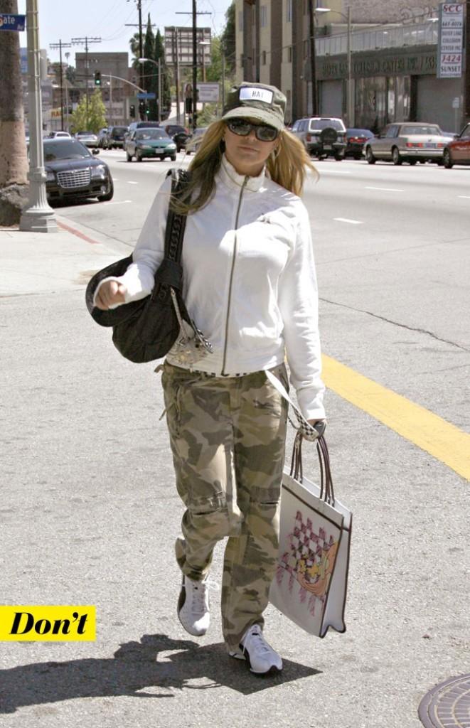 Tendance militaire : le treillis camouflage de Fergie