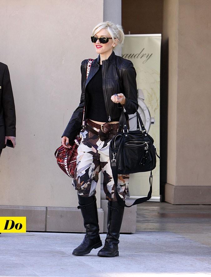 Tendance militaire : le treillis camouflage de Gwen Stefani