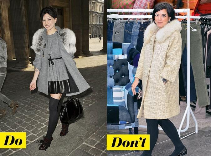 Le manteau à col fourrure de Daisy Lowe et Lily Allen