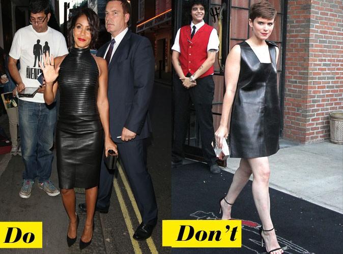 La robe en cuir - Do : Jada Smith / Don't : Kate Mara