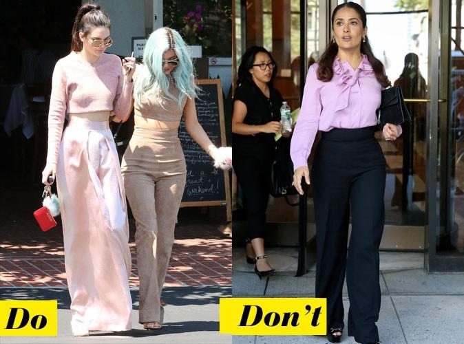 Le pantalon 70s - Do : Kendall Jenner / Don't : Salma Hayek