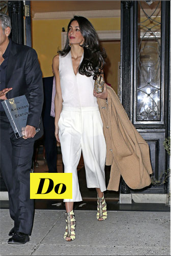 Do : Amal et son tailleur blanc