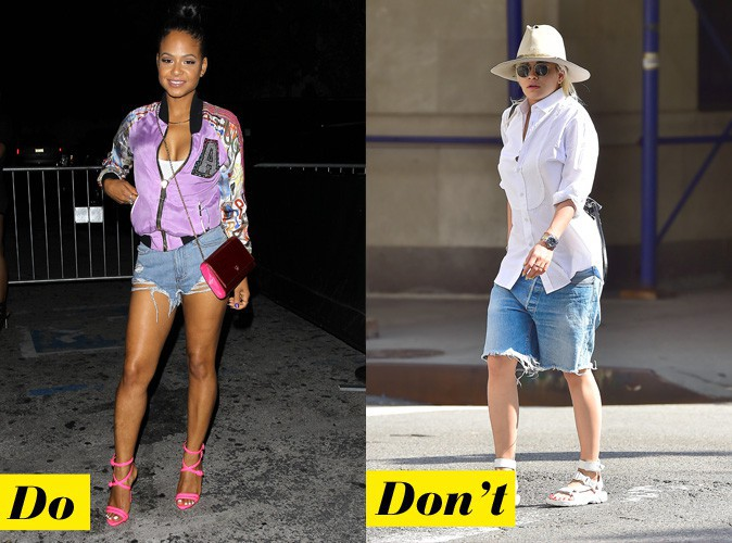 Le short en jean destroyed - Do : Christina Milian / Don't : Rita Ora