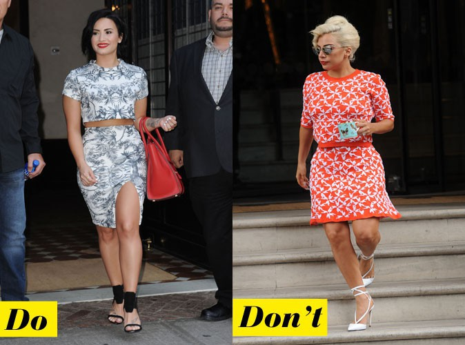 L'ensemble imprimé - Do : Demi Lovato / Don't : Lady Gaga