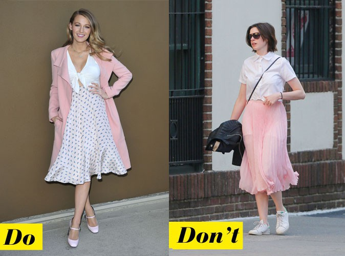 Le rose pastel - Do : Blake Lively / Don't : Anne Hathaway