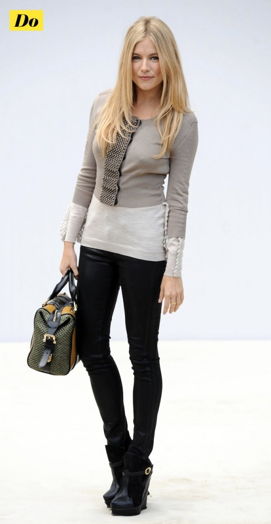 Sienna Miller: la fashionista !